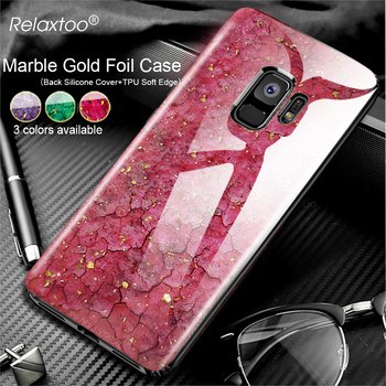 Marble Gold Foil Glitter Phone Case For Samsung Galaxy S9 S8 Plus Note 9 8 case samsun note9 note8 Soft Silicone Back Cover capa